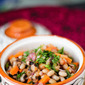 {Healthy Salads} Black-Eyed Pea and Stewed Tomato Salad Recipe