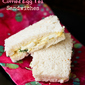 {Simple and Easy} Curried Egg Tea Sandwiches Recipe