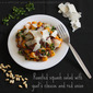 Roasted butternut squash salad with goat's cheese and red onion