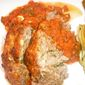 Italian-Style Meatloaf with Pecorino-Romano and Basil-Tomato Puree