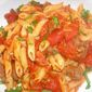 Pasta with Garlicky Beef and Pancetta Sauce