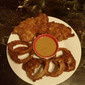 Pan Fried Chicken and Onion Rings