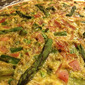 Asparagus and Ham Crustless Quiche