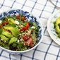 Spring Cleaning or Quinoa and Puy Lentil Salad with Lime Cilantro Vinaigrette