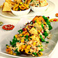 Papad Tacos with Corn Salsa
