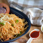 Easy Spicy Szechuan Noodles Recipe | Indo Chinese Vegetarian Recipe