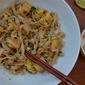 Vegetarian Pad Thai with Baked Tofu