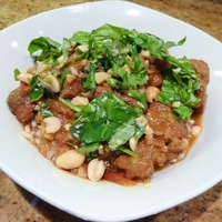 Malaysian Pork Stew with Garnishes