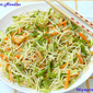Pepper Noodles with Mixed Vegetables and Shredded Chicken