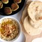 Homemade Pita Bread and Hummus
