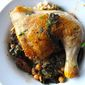 Chicken Tagine with Chickpeas, Chard, and Dried Figs