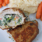 Crispy Stuffed Pork Chops with Spinach and Sun-dried Tomatoes