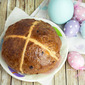 Giant Fig & Chocolate Hot Cross Bun