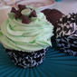 Leapin' leprechauns mint chocolate chip cupcakes