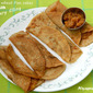 Whole wheat Pancakes with Jaggery Filling (Govva Polo (dosa) with Jaggery filling)