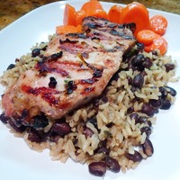 Grilled Pork Chops with Caribbean Wet Rub