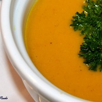 Red Lentil & Carrot soup is truly a soup for all seasons
