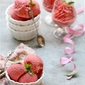 Frozen Dessert | Strawberry Basil Frozen Yogurt … tangy+sweet+minty+low fat=guilt free addiction