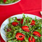 Arugula, Basil and Strawberry Salad