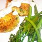 Crispy Scallop Cakes with Chive Cream and Lemony Broccolini