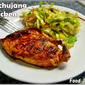 Gochujang Chicken with a Napa Cabbage Radish Slaw