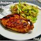 Gochujang Chicken with a Napa Cabbage Radish Slaw