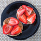 English Muffin with Peanut Butter and Strawberries