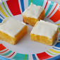 Lemon Bars with Sweet Sour Cream Topping