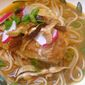 Baked Mahi-Mahi with Noodles in Spicy Ginger-Miso Broth