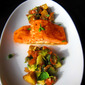 Thai Glazed Salmon with Brussels Sprouts and Eggplant