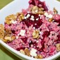 Farro Salad with Beets, Walnuts, and Goat Cheese