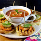 "Kitchen PLAY's ""30 Days of Grilled Cheese"" Mini Grilled Cheese Sandwiches With Tomato Soup."