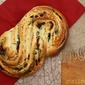 Pane Bianco filled w/ Roasted Garlic, Sundried Tomato, & Basil {Bread Baking Babes}
