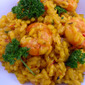 Shrimp Risotto With Saffron and Peas