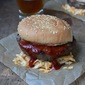 Bud's Broiler Burger with Hickory Smoked Sauce