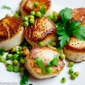 Pan Seared Scallops with Lemon Herb Peas