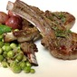 Pan Fried Lamb Chops served with Fresh Peas and Mint