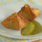 Avocado Wontons with Tamarind Cashew Dipping Sauce