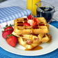 Strawberry Muffles - waffles made from muffin batter!