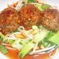 Thai Sesame Meatballs with Ground Turkey and Spicy Sweet-and-Sour Sauce