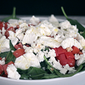 Roasted Sausage with Spinach, Tomato and Goat Cheese