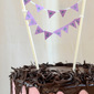 Dark Chocolate Cake with Blueberry Bavarian Cream and Chocolate Ganache