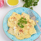 Chicken and Cheese #Ravioli with pumpkin #Alfredo Sauce
