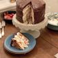 Dark Chocolate Buttermilk Waffle Cake