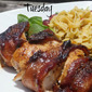 A Weeknight BBQ: BBQ Rub Bacon Wrapped Chicken