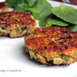 Quinoa Cakes with Artichoke, Spinach & Caramelized Onion