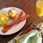 Scrambled Eggs, Bacon, Martha Stewart's Popovers, and Mimosas