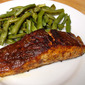 Pan-seared Oven-finished Salmon with Barbecue Sauce