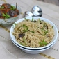 Bagara Rice (How to cook Pulao/ Pilaf in Pressure Cooker)