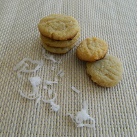 Gluten Free Vegan Mini Coconut Almond Cookies